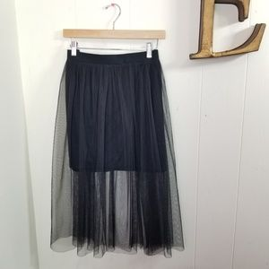 mossimo tulle skirt black a line XXL elastic waist